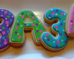 letter sugar cookies etsy