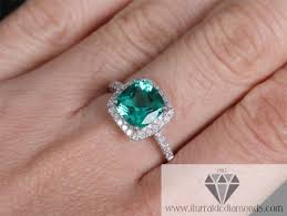 engagement rings cushion cut cushion cut emerald diamond pave halo engagement ring