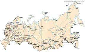 russia map with all cities map of russia by phonebook of russia