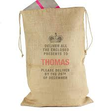 deliver presents personalised deliver presents to hessian sack by sassy bloom as