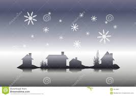 winter house silhouette christmas eve royalty free stock
