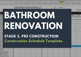 construction schedule template renovation junkies