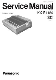 panasonic printer kx p1150 user guide manualsonline com