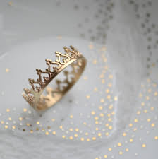 king and crown wedding rings ready to ship size 85 14k gold there is no by lunaticart