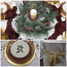 honey i u0027m home a christmas table tour our church christmas party