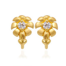 gold earring design with price gold stud earrings designs with price caymancode