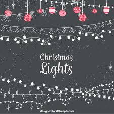 vintage christmas lights background vector free download