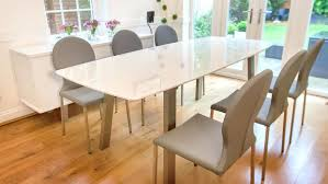 fascinating extendable dining room table in walnut by homewhiz