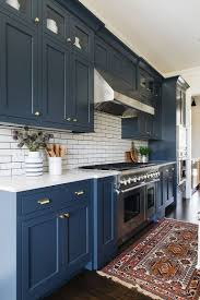 blue painted kitchen cabinet ideas 25 beautiful kitchen color ideas that will refresh your