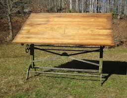 Dietzgen Drafting Table Antique Eugene Dietzgen Drafting Table Iron Woods And Lights