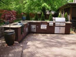 Outdoor Kitchen Designs For Small Spaces Simple Outdoor Kitchen Pendant Lamps Black Modern Stove Cozy