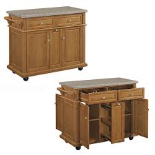 kitchen island oak monarch oak kitchen island with granite top 5006 945 the home
