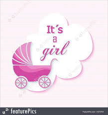 baby shower posters baby shower girl invitation card design illustration