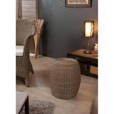 meubles en rotin pouf rond rotin meubles macabane meubles et objets de décoration
