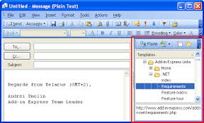 build outlook add in in net to manage outlook templates u0026 signatures