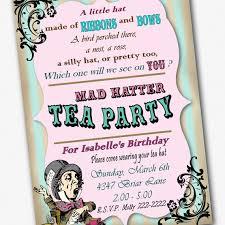 printable mad hatters tea party invitation template