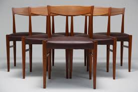 Danish Dining Table Danish Dining Chairs By Soro Stolefabrik Set Of Six