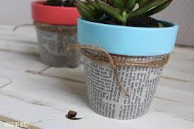 easy newspaper flower pots
