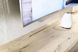 German Laminate Flooring Rounded Designer Oak Entertainment Unit Modern Oak Tv Unit