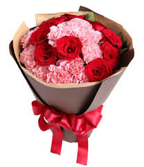 send flower smile brightly carnation mixed bouquet send flower in china