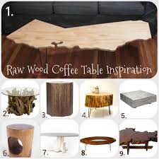 Diy Wood Coffee Table by Seeking Inspiration Raw Wood Side U0026 Coffee Tables U2022 Charleston