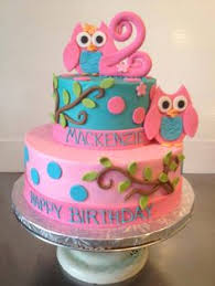 hand made fondant cute owl complete cake kit with birthday plaque