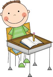child writing at desk clipart clipartxtras