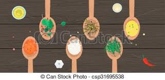 artwork on wood wooden spoons with spices and herbs on wood surface