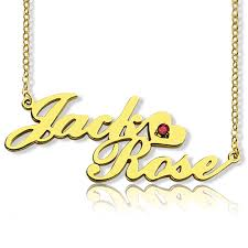 Nameplate Necklace Double Plated Double Nameplate Necklace Carrie Style