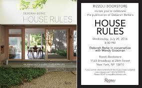 house rules by deborah berke in conversation with wendy goodman