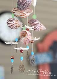 diy seashell bead wind chime artsy rule