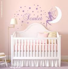 Purple Wall Decals For Nursery Baby Nursery Decor Moon Wall Decor For Baby Nursery
