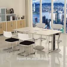 High Top Conference Table Hot Sale High Evaluation Meeting Furniture White Oval Glass