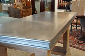 Zinc Bistro Table Zinc Bistro Edge On Countertop Custom