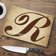 personalized glass cutting board jds personalized gifts initial personalized glass cutting board