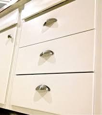 cheap kitchen cabinet update half moon drawer pulls painted