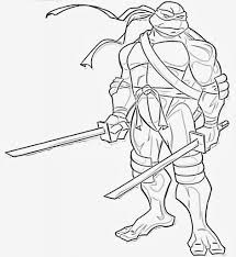 ninja turtle coloring pages leonardo virtren com