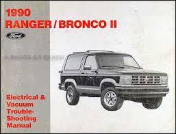 1990 ford ranger and bronco ii foldout wiring diagram original