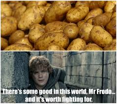 Meme Potato - lotr potato meme original memes pinterest lotr hobbit and