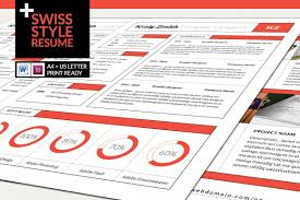 different resume format swiss style resume resume templates creative market