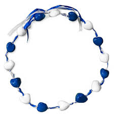 kukui nut kukui nut necklace royal blue and white