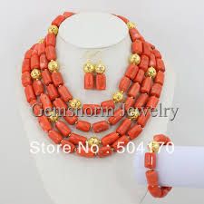 beads necklace set images African coral beads jewelry set 2017 new design african wedding jpg