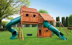 How To Build A Wooden Playset Fantasy Multi Deck Tree House Jungle Gym Eastern Jungle Gym