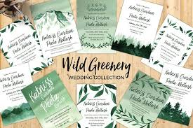 wedding invitations greenery greenery wedding collection invitation templates creative