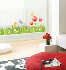 flower garden wall design stickers wallstickery com