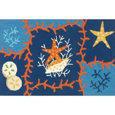 Coral Colored Area Rugs by Blue Coral Rug Wayfair