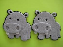 Animal Ornaments Hippo Felt Animal Ornaments For Zoo Forest Safari Jungle