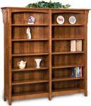Mission Style Bookcase Amish Bookcases Furniture In Solid Wood Save 33 At Amish Outlet