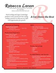 Examples Of Cosmetology Resumes by Fun Cosmetologist Resume 3 Cosmetology Resume Templates Resume