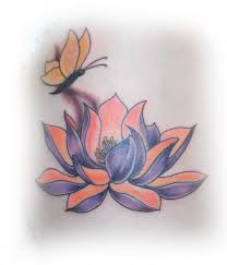 ink lotus butterfly